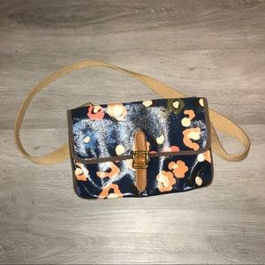 FOSSIL floral coated canvas crossbody